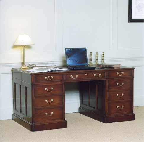 Mahogany desk, hand dovetailed oak drawers