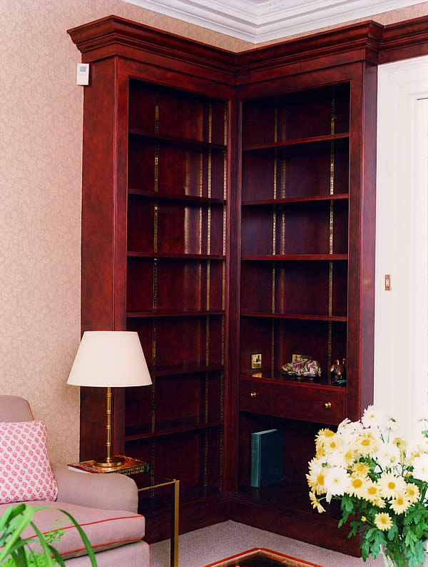 Painted bookcases to country rectory