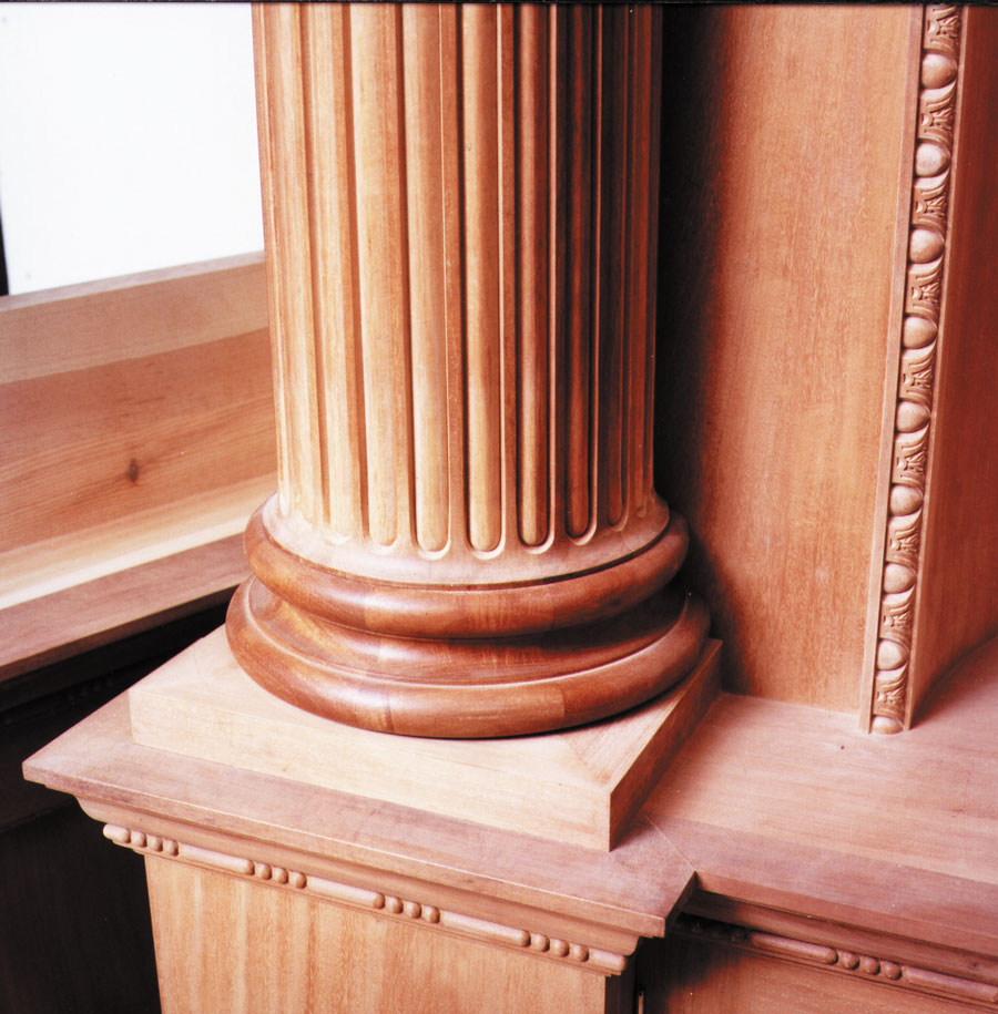 Column and dado detail from large library