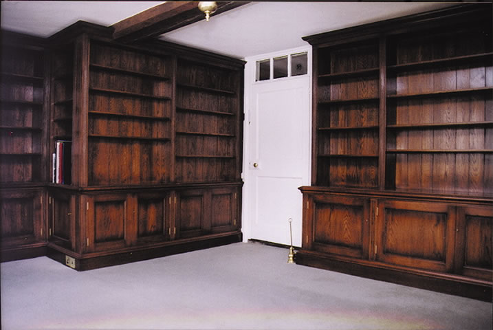 Solid oak library within country property