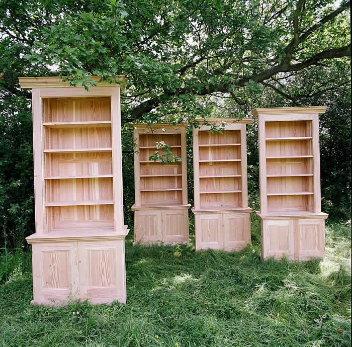 Library bookcases in Scots Pine for Regency town house